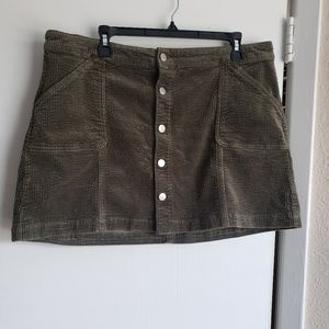 Plus A-line Mini Skirt